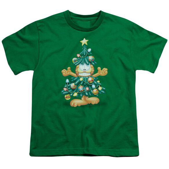 Garfield Tree Short Sleeve Youth Kelly T-Shirt
