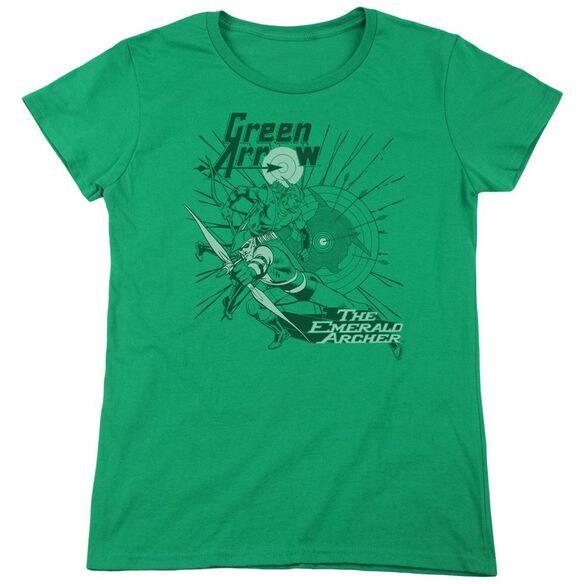 Dc The Emerald Archer Short Sleeve Women's Tee Kelly T-Shirt