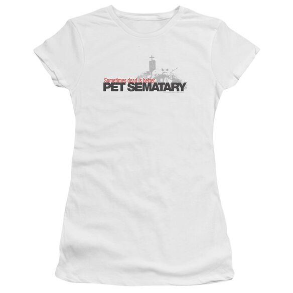 Pet Sematary Logo Premium Bella Junior Sheer Jersey