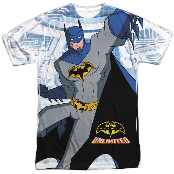 Batman Unlimited Tech Cave Short Sleeve Adult Poly Crew T-Shirt