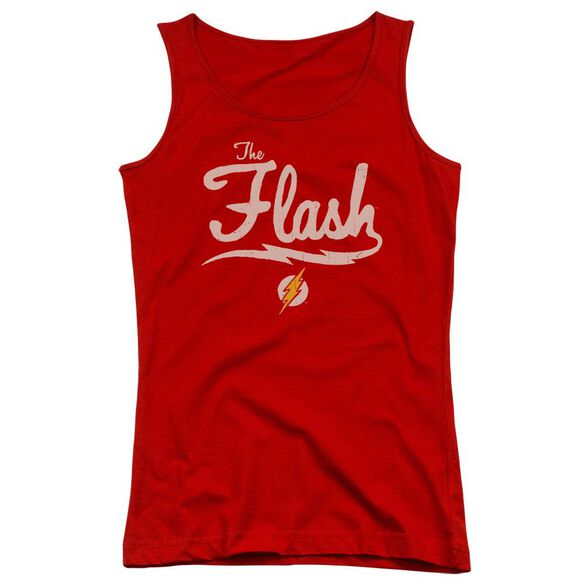 Jla Old School Flash Juniors Tank Top
