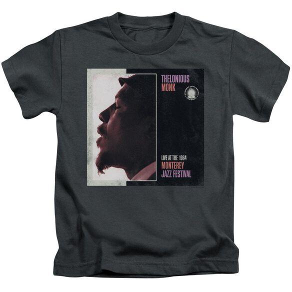 Thelonious Monk Monterey Short Sleeve Juvenile Charcoal T-Shirt