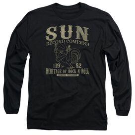 Sun Records Rockabilly Bird Long Sleeve Adult T-Shirt