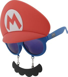 Mario Hat And Mustache Costume Glasses