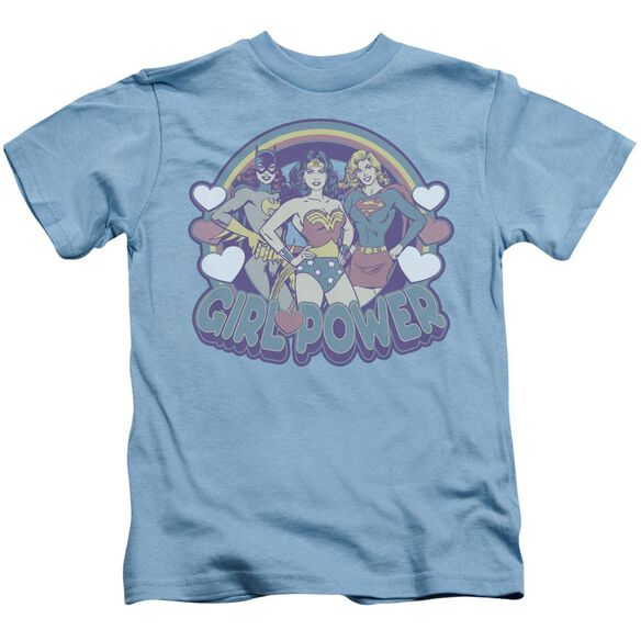 Dc Retro Girl Power Short Sleeve Juvenile Carolina Blue T-Shirt