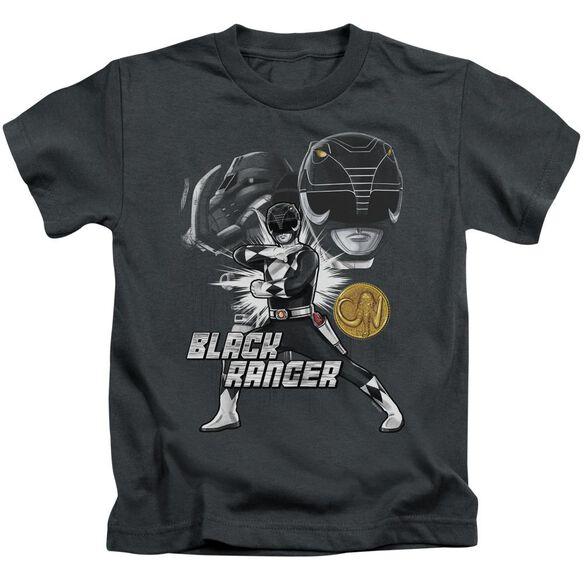 Power Rangers Black Ranger Short Sleeve Juvenile T-Shirt