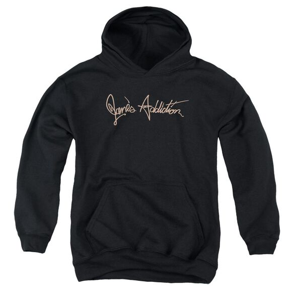 Janes Addiction Script Logo Youth Pull Over Hoodie