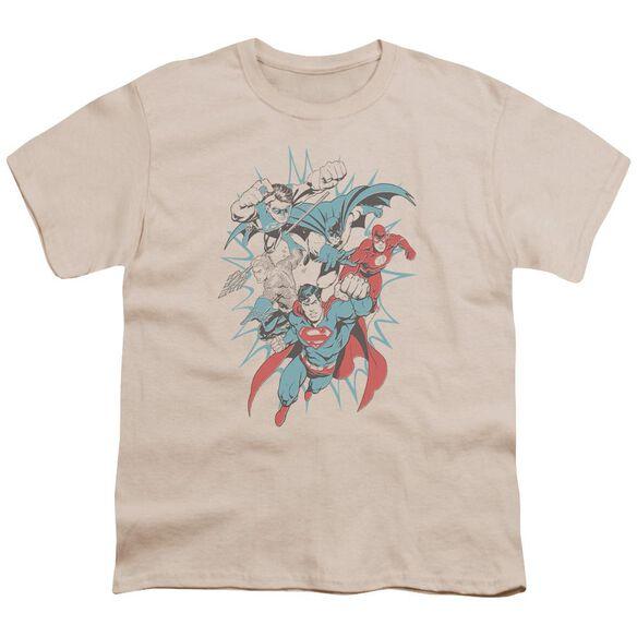 Jla Pop Group Short Sleeve Youth T-Shirt