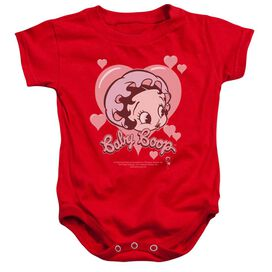 Betty Boop Baby Heart - Infant Snapsuit - Red - Sm