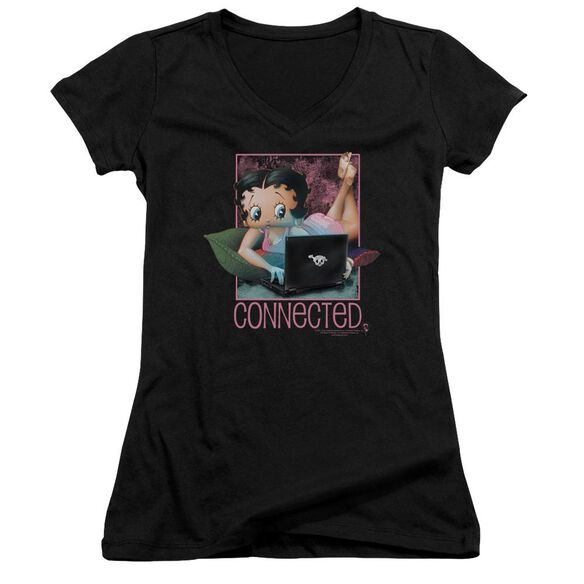 Betty Boop Connected Junior V Neck T-Shirt