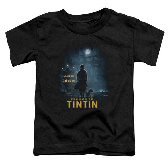 Tintin Title Poster Short Sleeve Toddler Tee Black Sm T-Shirt