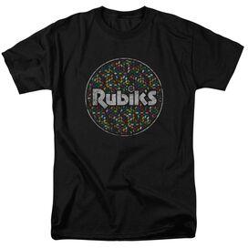 Rubik's Cube Circle Pattern Short Sleeve Adult T-Shirt