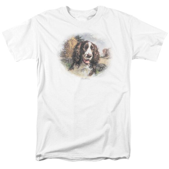Wildlife Springer Spaniel Head Short Sleeve Adult T-Shirt