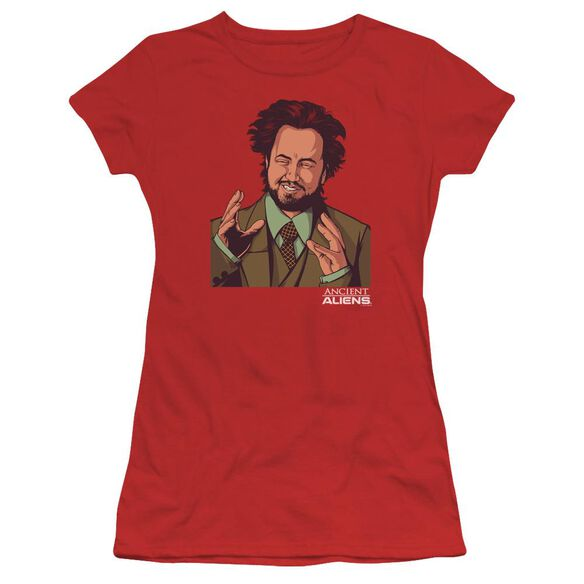 Ancient Aliens It Must Be Aliens Short Sleeve Junior Sheer T-Shirt