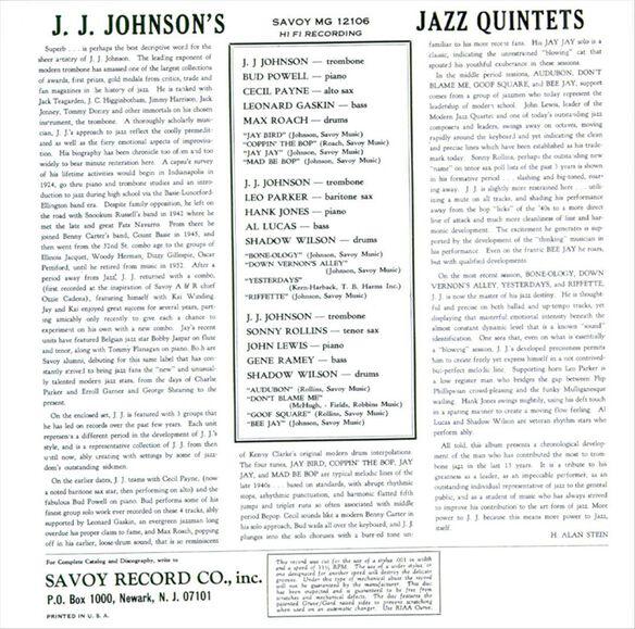 J. J. Johnson's Jazz Quin