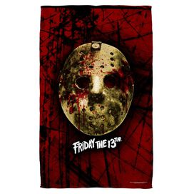 Friday The 13 Th Bloody Mask Beach Towel