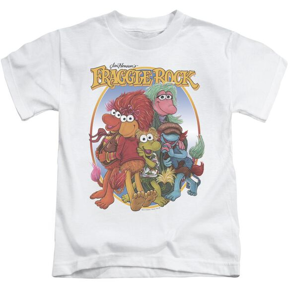 Fraggle Rock Group Hug Short Sleeve Juvenile White T-Shirt
