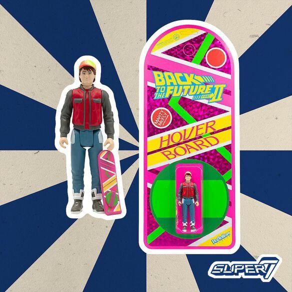 BTTF ReAction Figure – Marty Hoverboard (SDCC 2020)