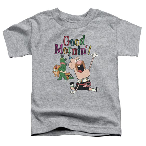 Uncle Grandpa Good Mornin Short Sleeve Toddler Tee Athletic Heather T-Shirt
