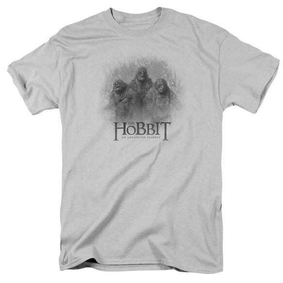 The Hobbit Three Trolls Short Sleeve Adult Silver T-Shirt