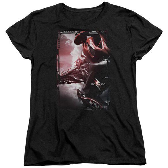 Power Rangers Red Zord Poster Short Sleeve Womens Tee T-Shirt
