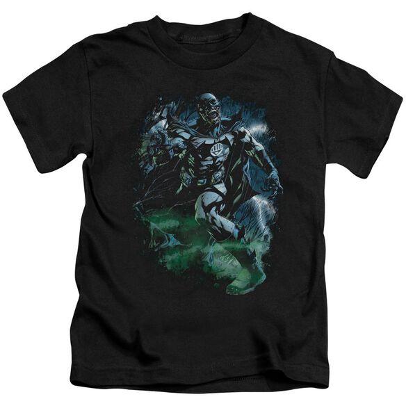 Green Lantern Black Lantern Batman Short Sleeve Juvenile Black T-Shirt