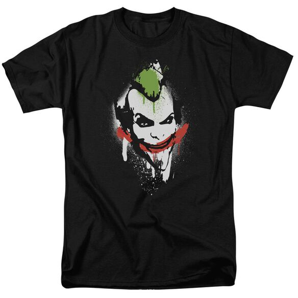 Arkham City Spraypaint Smile Short Sleeve Adult T-Shirt