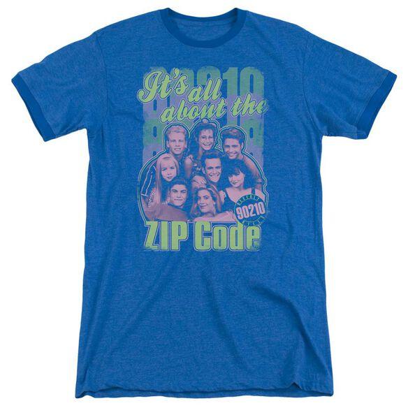 90210 Zip Code Adult Heather Ringer Royal Blue