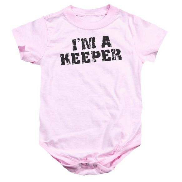 I'm A Keeper Infant Snapsuit Pink Xl