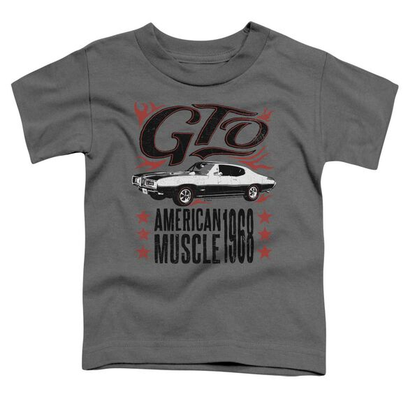 Pontiac Gto Flames Short Sleeve Toddler Tee Charcoal T-Shirt