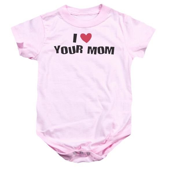 I Love Your Mom Infant Snapsuit Pink Lg