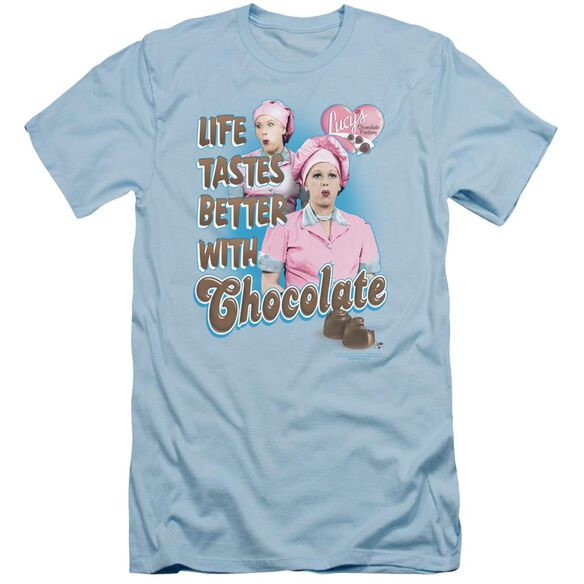 I Love Lucy Better With Chocolate Short Sleeve Adult Light T-Shirt