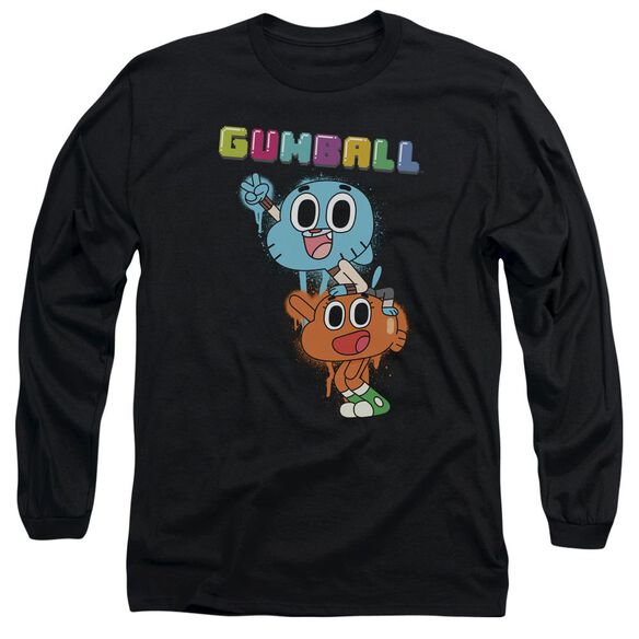 Amazing World Of Gumball Gumball Spray Long Sleeve Adult T-Shirt
