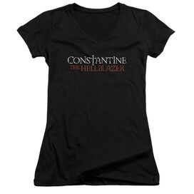 Constantine Hellblazer Logo Junior V Neck T-Shirt