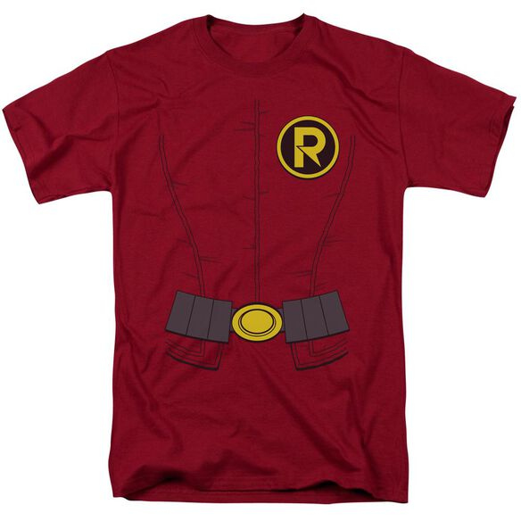 Batman New Robin Costume Short Sleeve Adult Cardinal T-Shirt