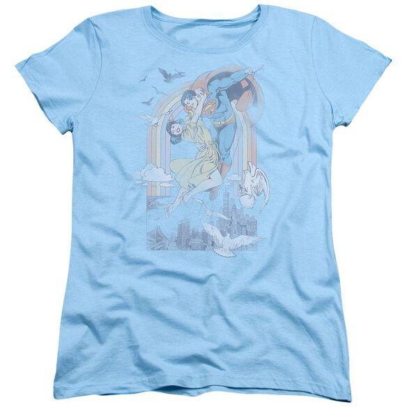 Dc Rainbow Love Short Sleeve Womens Tee Light T-Shirt