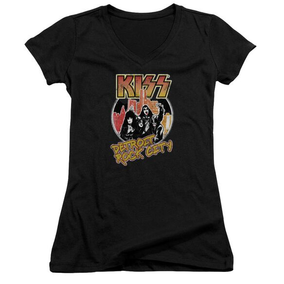 Kiss Detroit Rock City Junior V Neck T-Shirt