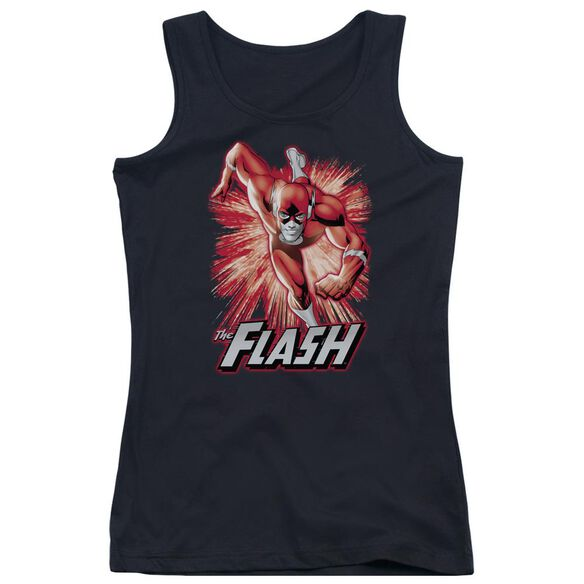 Jla Flash Red & Gray Juniors Tank Top