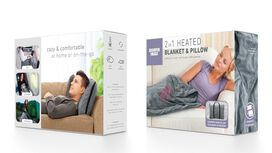 2 in 1 Heated Blanket & Pillow
