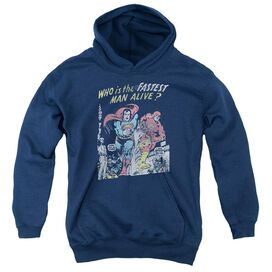 Jla Fastest Man Youth Pull Over Hoodie