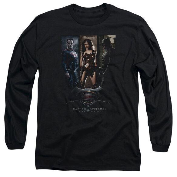 Batman V Superman 3 Phases Long Sleeve Adult T-Shirt