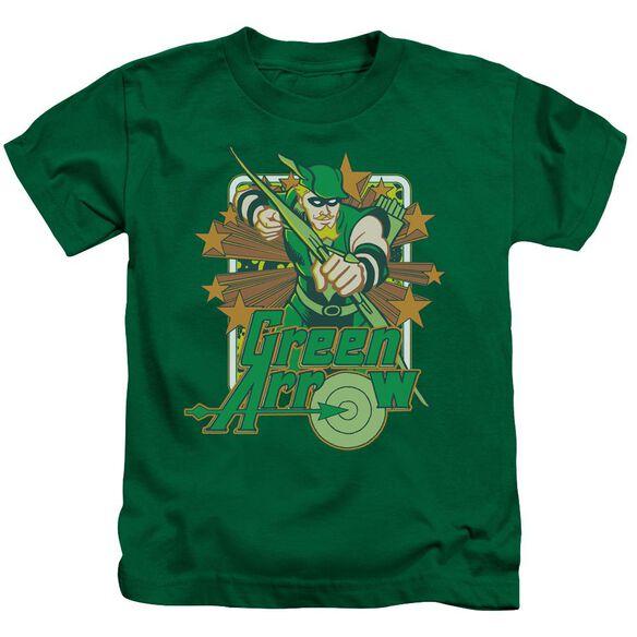 Dc Green Arrow Stars Short Sleeve Juvenile Kelly Green Md T-Shirt
