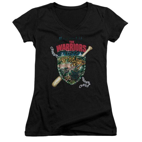 Warriors Shield Junior V Neck T-Shirt