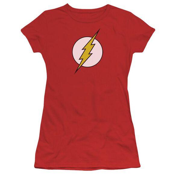 Dc Flash Flash Logo Short Sleeve Junior Sheer T-Shirt