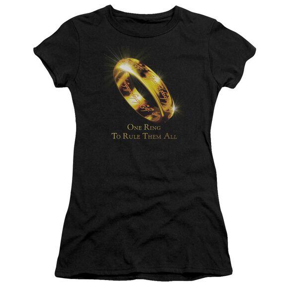 Lor One Ring Short Sleeve Junior Sheer T-Shirt