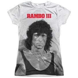 Rambo Iii Rambo Stare Short Sleeve Junior Poly Crew T-Shirt
