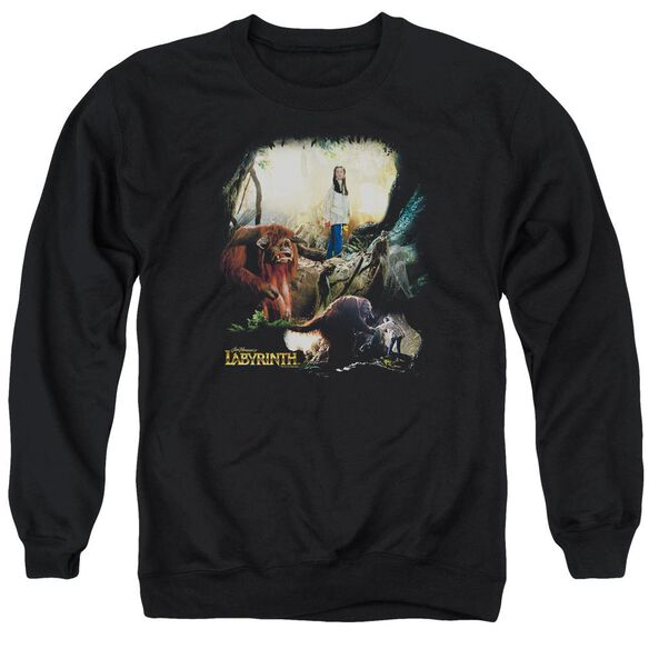Labyrinth Sarah &Amp; Ludo Adult Crewneck Sweatshirt