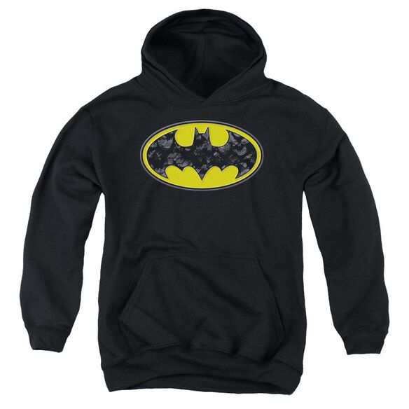 Batman Bats In Logo Youth Pull Over Hoodie
