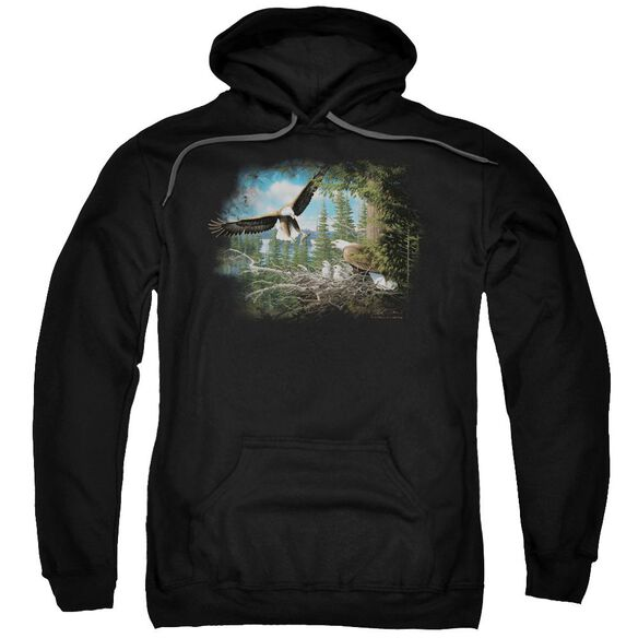 Wildlife Spring Bald Eagles Adult Pull Over Hoodie