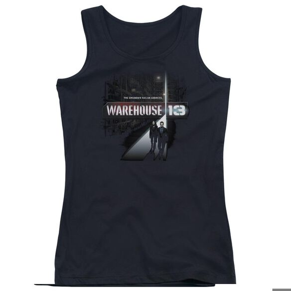 Warehouse 13 The Unknown - Juniors Tank Top - Black